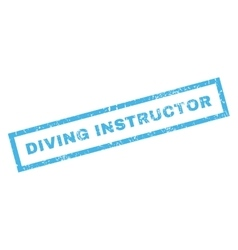 Diving instructor rubber stamp vector