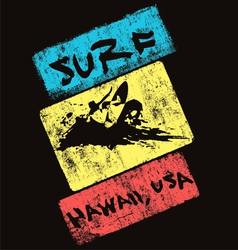 Surf hawaii usa vector