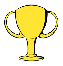 Champions gold cup icon cartoon vector