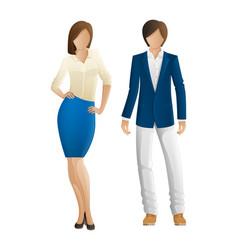 Man and woman faceless models new collection vector