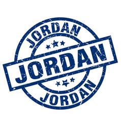 Jordan blue round grunge stamp vector