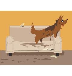 Unruly dog vector image