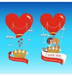 Couple in love on valentines day vector