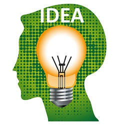 Idea mind bulb vector