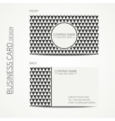 Vintage hipster simple monochrome business card vector