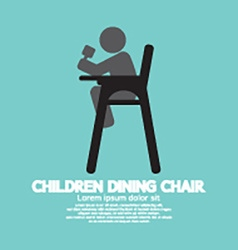 Children dining chair vector