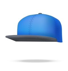 Layout of male color rap cap vector