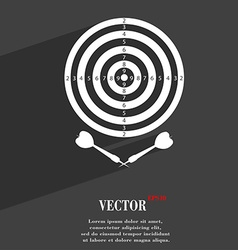 Darts symbol flat modern web design with long vector
