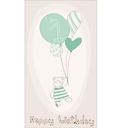Birthday invitation card vector