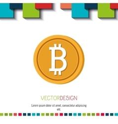 bit coins design vector image
