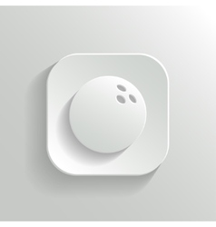Bowling icon - white app button vector image