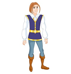 brave prince vector image