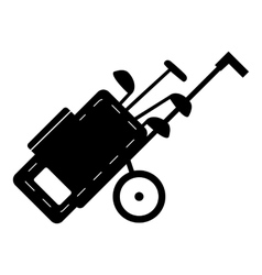 Cart for golf clubs icon simple style vector image