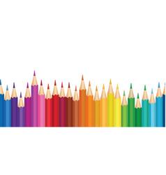 Crayon background colorful pencil seamless border vector