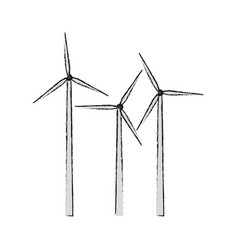 Eolic turbine icon vector