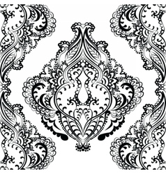floral pattern in Indian style vector image vector image