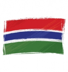 grunge gambia flag vector image vector image
