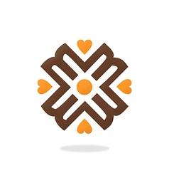 Heart love decorative geometry logo vector