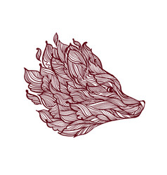 Icon of decorative fox head vector