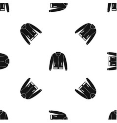 jacket pattern seamless black vector image vector image