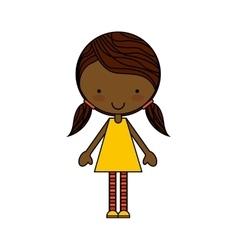 little beautiful girl isolated vector image