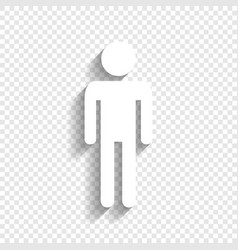 Man sign white icon with vector