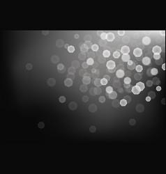 Many bright blurred lights on dark background vector