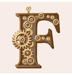Mechanical alphabet vector