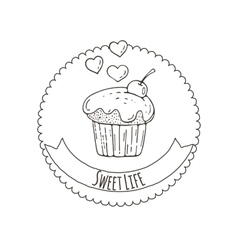 Muffins Background vector image