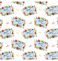 Pattern for jewish holiday rosh hashana with vector