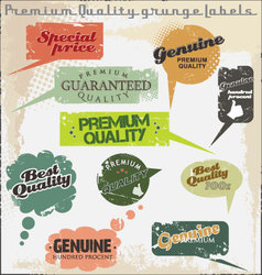 premium quality and satisfaction guarantee labels vector image vector image