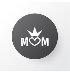Queen icon symbol premium quality isolated mom vector