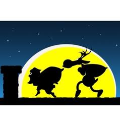 Santas visit vector image vector image