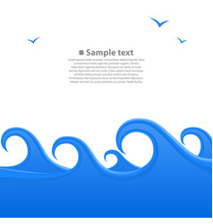 sea waves cover space for text white background vector image
