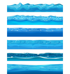Seamless water ocean and river layers for ui game vector