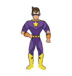 Superhero character cartoon vector