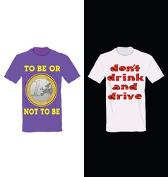 T-shirt in two color with one euro and message for vector