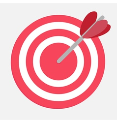 Target with heart arrow vector image