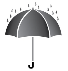 Umbrella with water Black umbrella isolated on vector image vector image