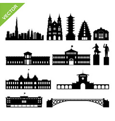 vietnam ho chi minh city landmark and skyline vector image vector image