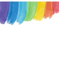White background with water color rainbow vector