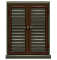 window painted in brown color vector image