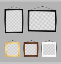 wooden frame gallery set vector image vector image