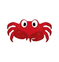 Crab sea life animal icon graphic vector