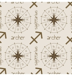 Astrology sign archer seamless pattern vector