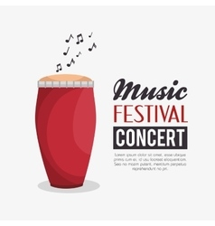 music festival concert poster vector image