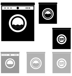 black and grey washer on the white background vector image