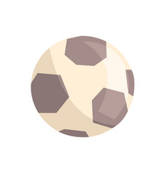 soccer ball or football ball cartoon vector image