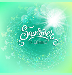 Summer is coming background vector