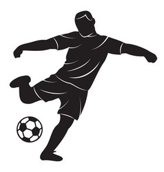Soccer player on white background vector image
